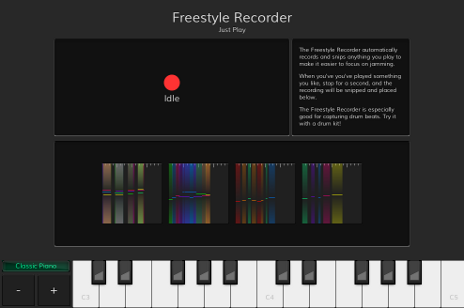 The Freestyle Recorder module in JamDeck.